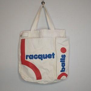 Vintage canvas bag tote - medium size